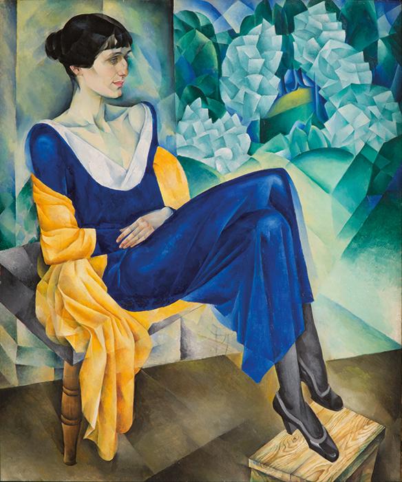 NATHAN ALTMAN. RETRATO DE ANNA AJMÁTOVA. 1915